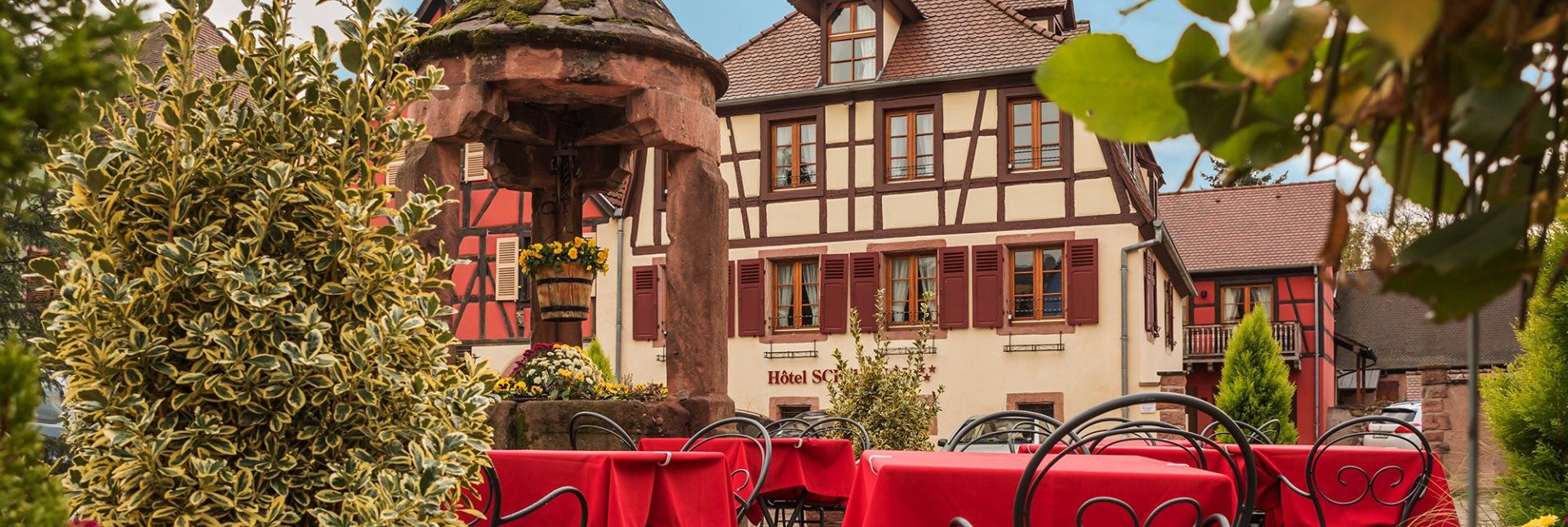 Hôtel Schwendi et sa terrasse